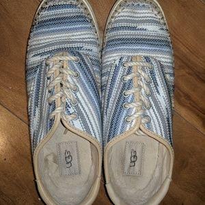 Ugg Australia stripe sneakers womens size 8.5 jute